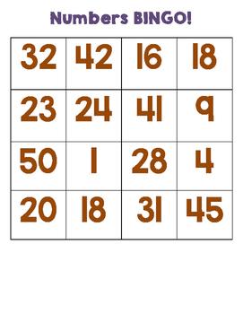 Numbers BINGO!