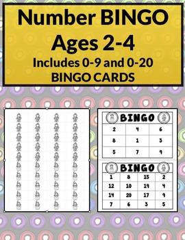 Numbers BINGO (0-9 & 0-20)  | Priscilla Beth @Daycare Support