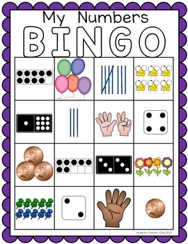 Counting and Cardinality BINGO