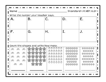 Numbers Base Ten Introduction Sheets - Counting