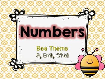 Numbers (Bee Theme)