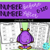 Numbers Before, After & Between 0-100 Worksheet Pack - Distance Learning Pack