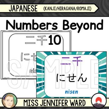 Numbers Beyond 10 in Japanese / Kanji / Hiragana / Romaji