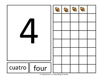 Numbers Bilingual Flashcards