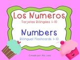 Numbers Bilingual Flashcards English/Spanish