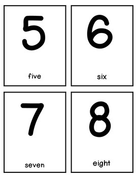 Numbers Binder - NUMBER recognition cards, games and worksheets