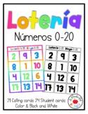 Numbers Bingo 0-10 in Spanish and English