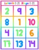 Numbers Bingo 0-10 in English and Spanish