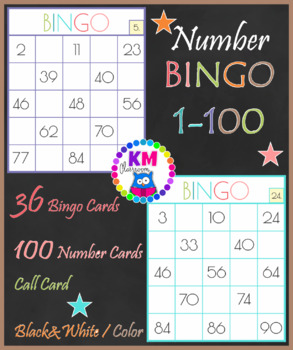 image about Numbers 1-100 Printable identify Amount Bingo, Quantities 1-100 Clroom Video game