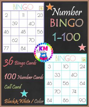 Numbers Bingo 1-100