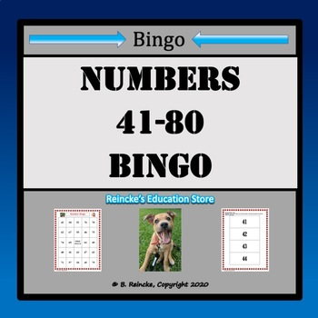 Numbers Bingo 41-80 (29 pre-made boards!)