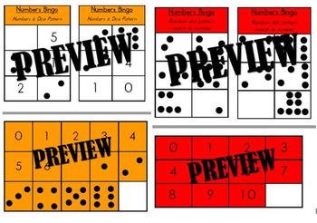Numbers Bingo Boards