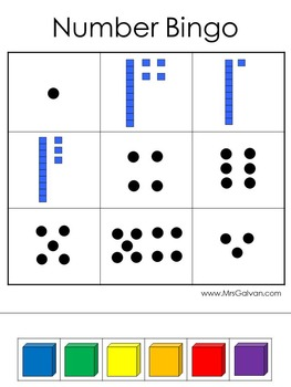 Numbers Bingo Learn Numbers and Practice Counting