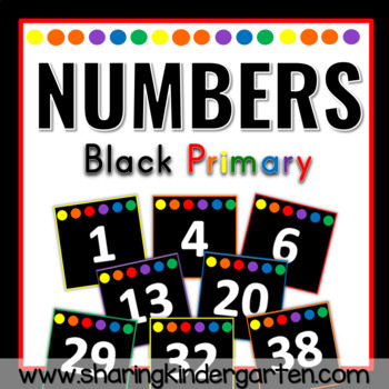 Numbers {Black Primary}