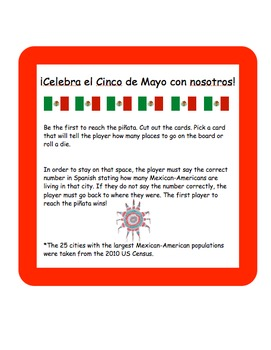 Spanish Numbers Partner Game