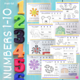 Numbers Book 1-10 (Word, Numeral, Ten Frame, & Number Line)