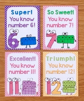 Numbers Brag Tags & Book (Unique Brag Tags for Numbers 0-20)