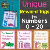 Numbers Reward Tags & Book (Unique Reward Tags for Numbers 0-20)