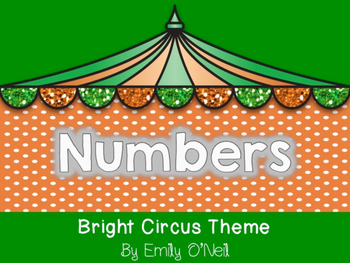 Numbers (Bright Circus Theme)