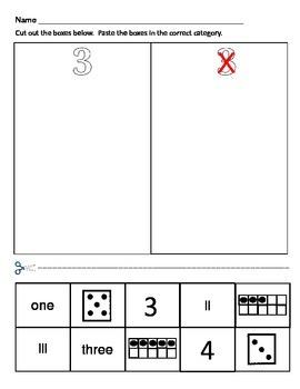 Numbers 1-10 / Number Sense Practice Worksheets / Number of the Week
