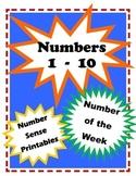 Numbers 1-10 for Preschool & Kindergarten