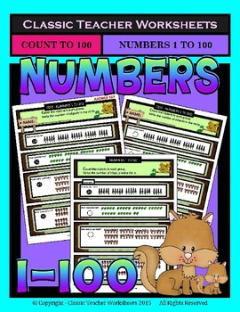 Numbers Bundle -Numbers 1 to 100- Set 1- 1st Grade (Grade 1) 2nd Grade (Grade 2)
