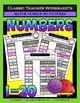 Numbers Bundle - Numbers 1 to 20 - Set 1 - Kindergarten 1st Grade (Grade 1)