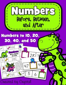 Numbers Bundle: Ordering, Reading, & Before, Between, and After
