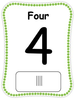 Numbers Cards 1-30