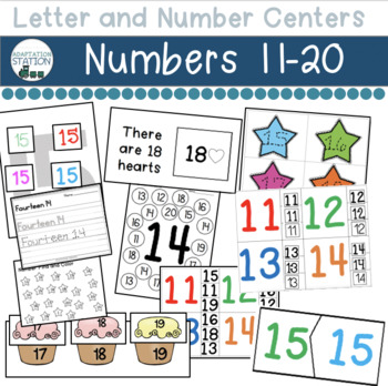 Numbers Centers for Early Childhood or Special Education (Numbers 11-20)