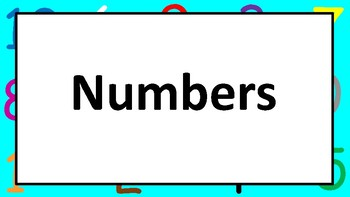 Numbers Chart 0-10