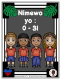 Numbers Chart: 0-5 in Haitian Creole (Dice and Tally Marks) (Haiti)