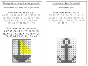 119 Number Chart & Hidden Picture BUNDLE-Begins with 0