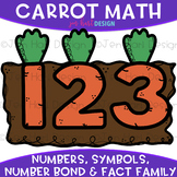 Numbers Clip Art - Carrot Math & Numbers {jen hart Clip Art}