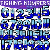 Numbers Clip Art - Fishing Math & Numbers {jen hart Clip Art}