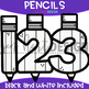 Numbers Clip Art - Pencil Numbers {jen hart Clip Art}