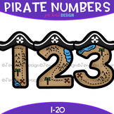 Numbers Clip Art - Pirate Numbers {jen hart Clip Art}