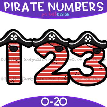 Numbers Clip Art - Pirate Numbers {jen hart Clip Art}