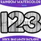 Numbers Clip Art - Rainbow Watercolor Numbers {jen hart Clip Art}