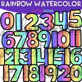 Numbers Clip Art - Rainbow Watercolor Numbers {jen hart Clip Art}