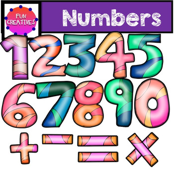 Numbers Clip Art Set