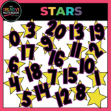 Numbers Clip Art   Stars Clip Art with Numbers   Star Student Clip Art
