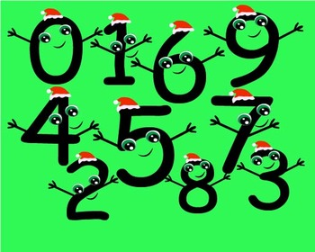 Numbers Clip Art birthday numbers Christmas xmas teacher graphic  smiling -019-