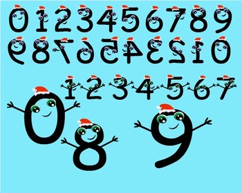 Numbers Clip Art birthday numbers Christmas xmas teacher g