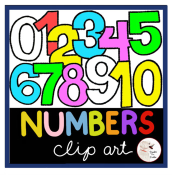 Numbers Clipart 0-10 | Bright Colors!