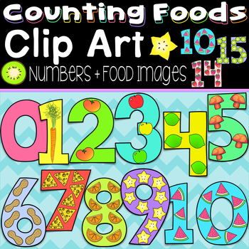 Numbers Clipart ~ 3 Different Styles ~ 30 Color, Solid Black & Black Line Images