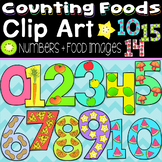 Counting Numbers 0-20 Clip Art (Food Themed)