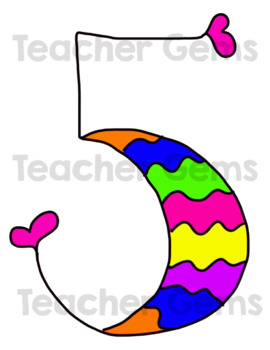 Numbers Clipart in Fun Colors