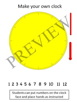 Numbers Clock Analog and Digital Clipart