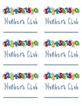 Numbers Club (practice writing numbers 1-2,000)